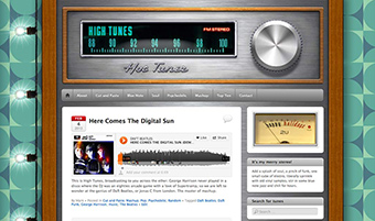 High Tunes Blog design by Mark Wallis at The Vibes