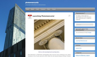 Photomancunia website design by Mark Wallis
