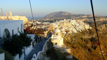 Fira at sundown