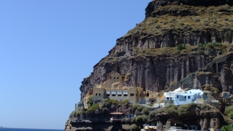 Cave houses, from the port