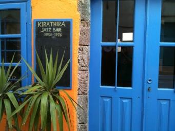 Colourful jazz bar, Fira
