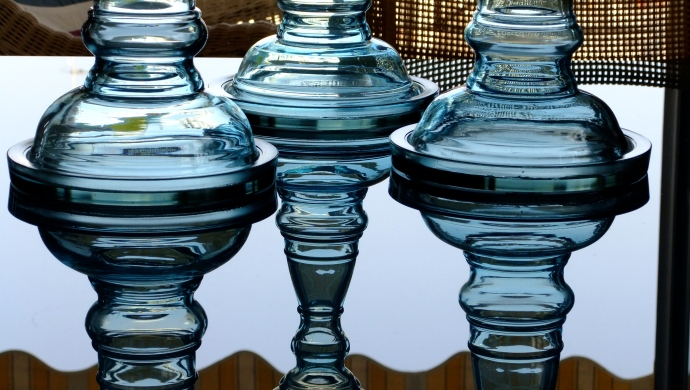 Ornamental Glass Candlesticks
