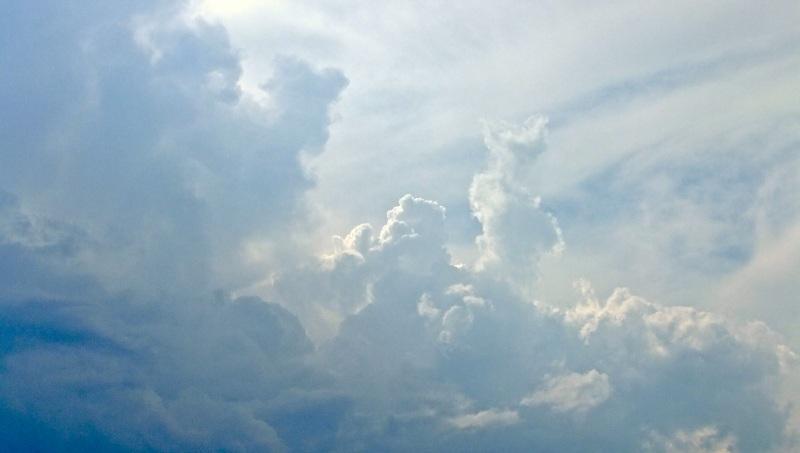 Clouds sky greece