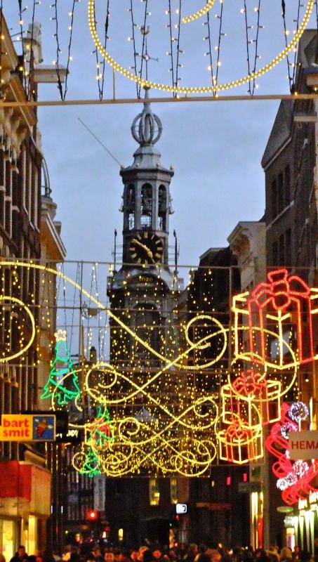 christmas light in amsterdam