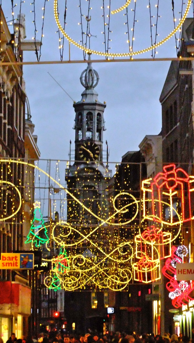 christmas light in amsterdam