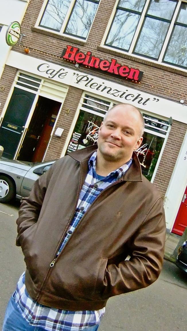 handsome man in amsterdam
