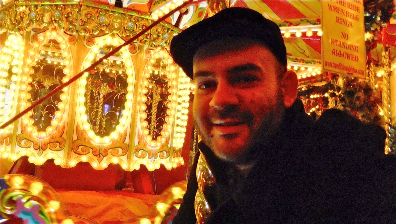 Man on carousel