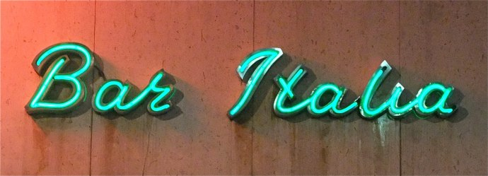 Bar Italia Soho London Neon Sign