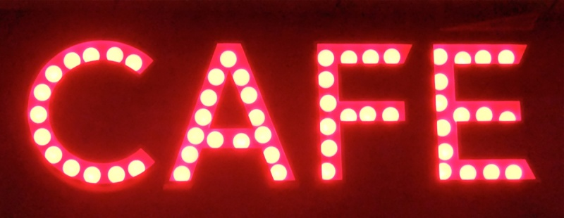 Cafe illuminated sign london