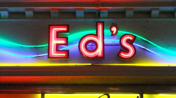 Ed's Diner neon sign london