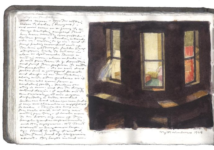 Edward-Hopper-sketch-for-nightwindows