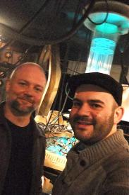 Mark and Panos in the Tardis