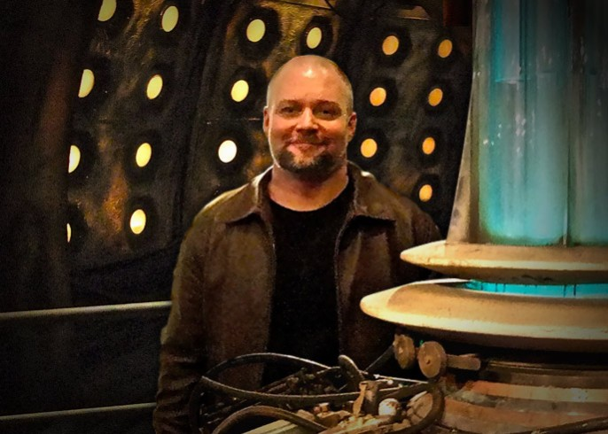 Handsome man in the tardis