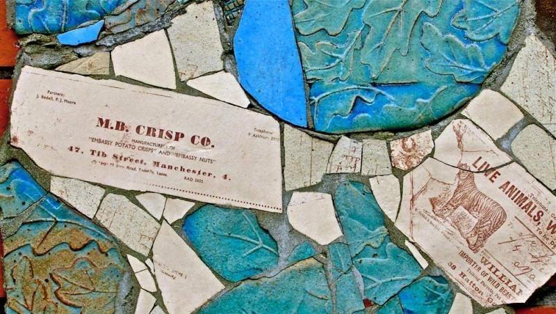 wall tile mural tib street