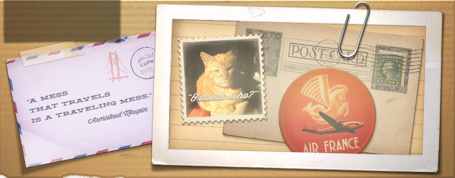 Email collage vintage