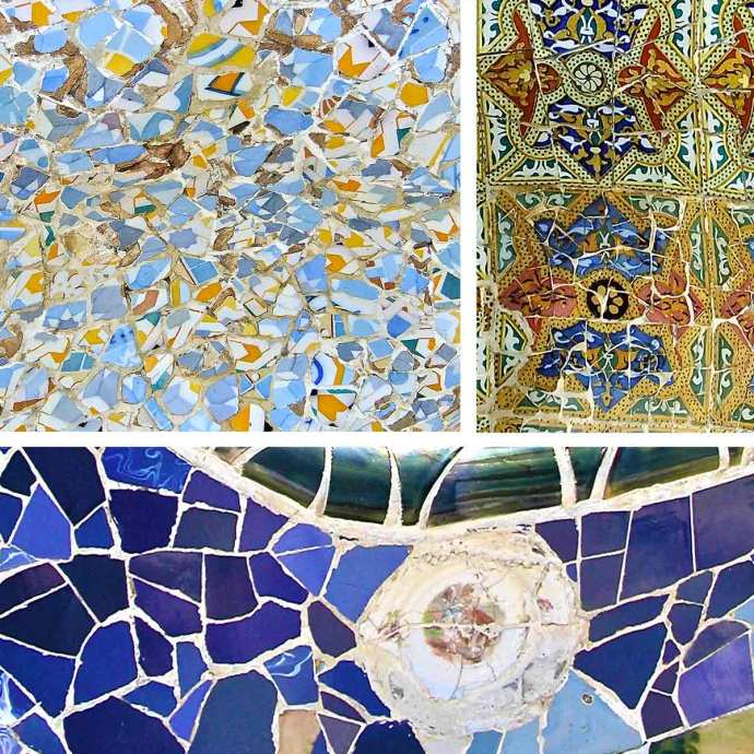 gaudi mosaic collage
