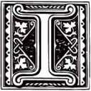 Illuminated Gothic letter I
