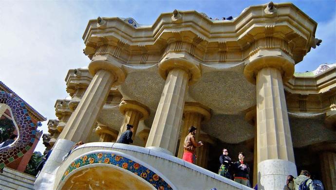 Gaudi's Sala Hipóstila Park Guell