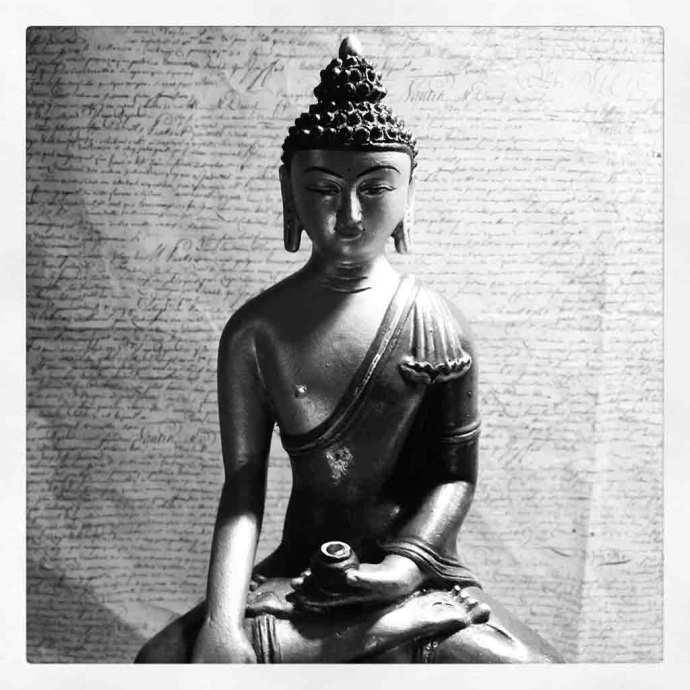 instagram monotone buddha