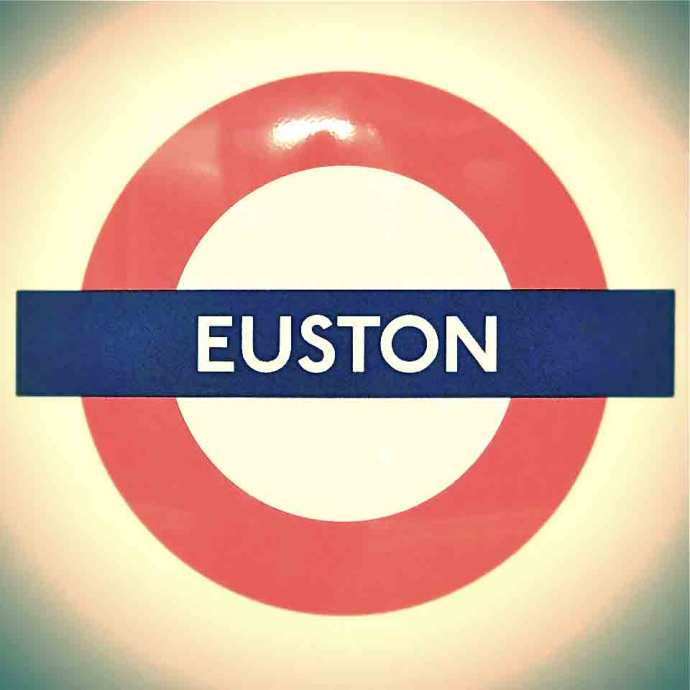 Instagram Euston Station enamel sign