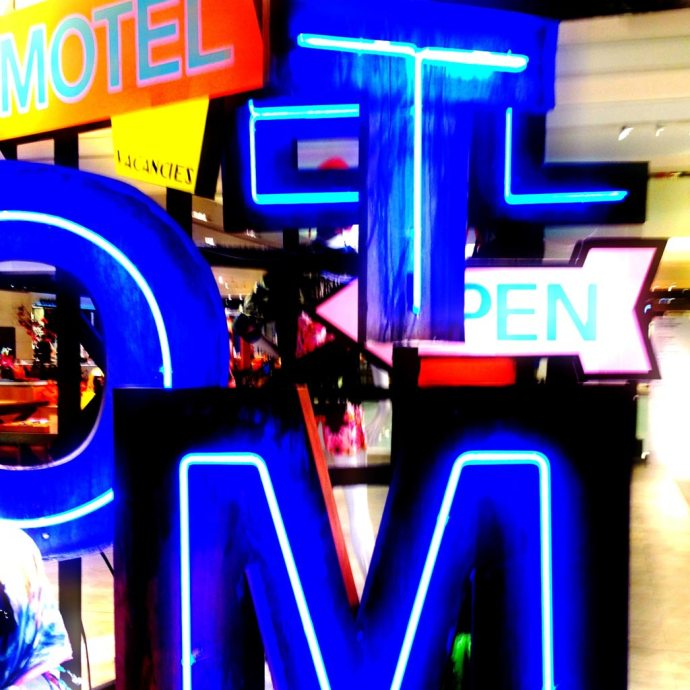 Neon display selfridges manchester