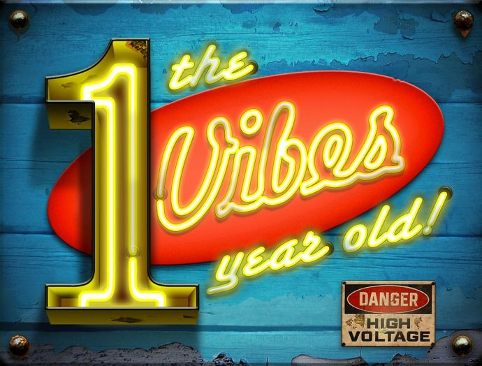 The Vibes First Birthday neon sign