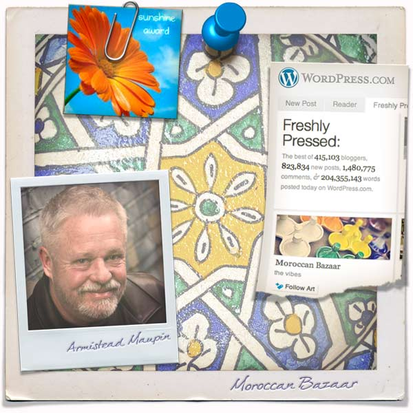 Freshly Pressed WordPress Collage Armistead Maupin
