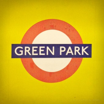Green Park Tube Sign