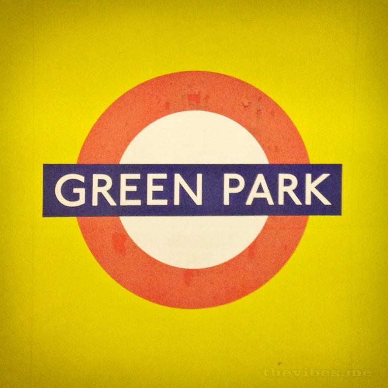 Green Park Tube Sign