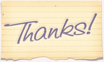 Thank you note lined paper