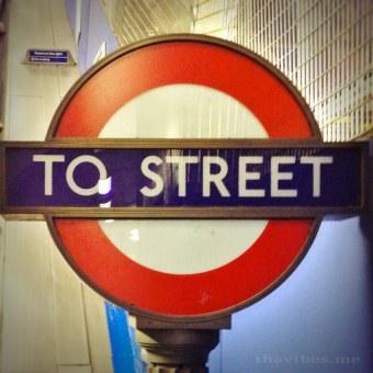 Tube Station Street sign
