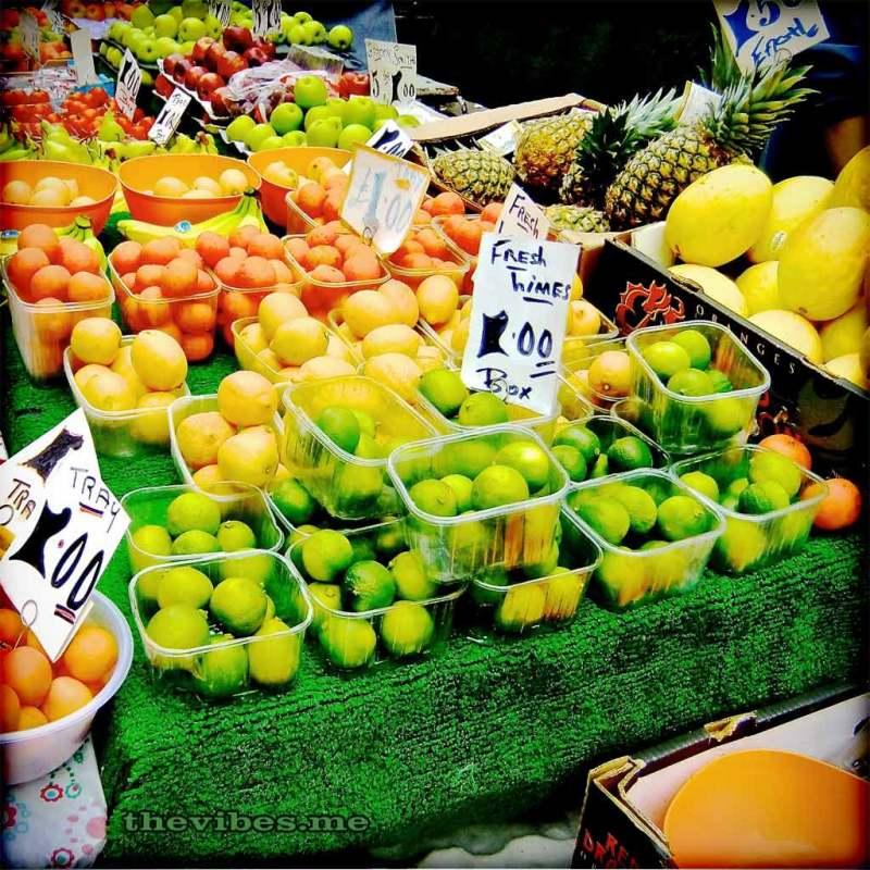 Brixton market fruit stall