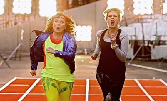 Absolutely Fabulous Olympic Special Patsy and Eddie running