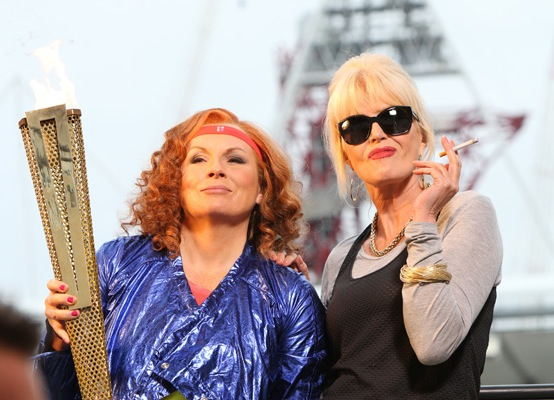 Absolutely Fabulous Olympic Games Special Patsy and Eddie Torch