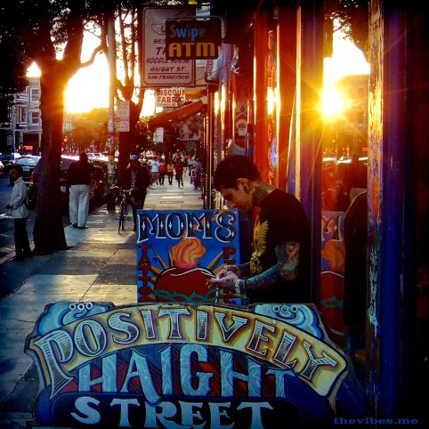 Sunset on the Haight the vibes