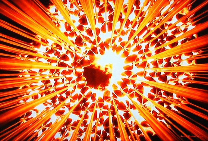 The Olympic Torch lighting the cauldron at the opening ceremony London 2012 The Vibes