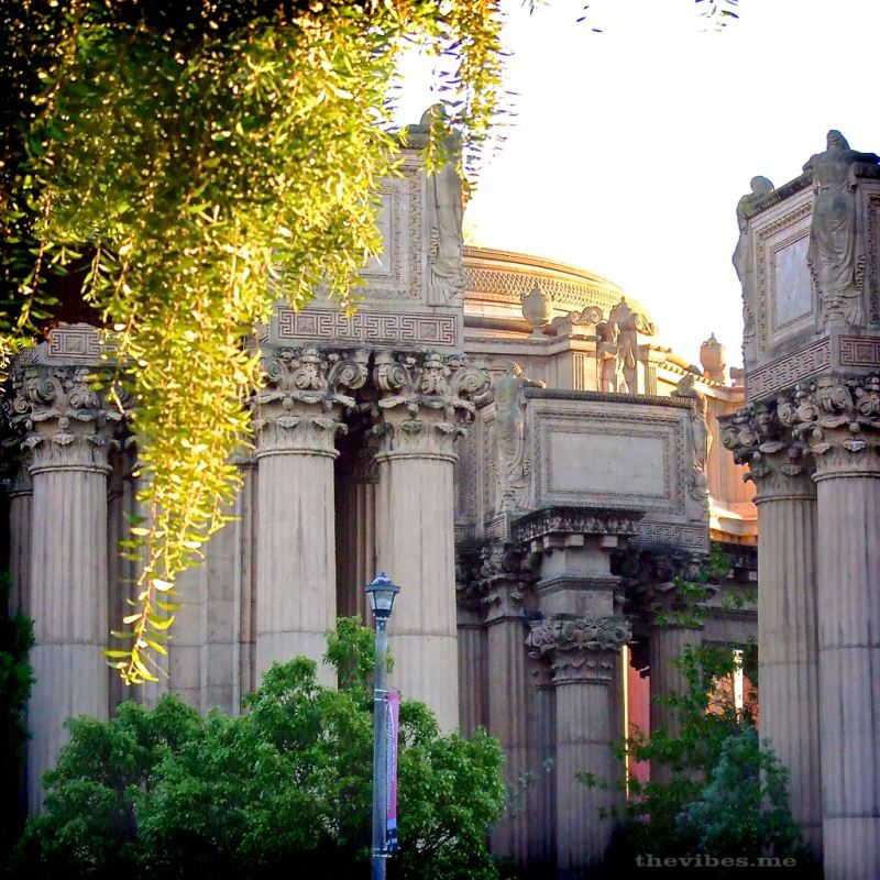 The Palace of Fine Arts, San Francisco the vibes