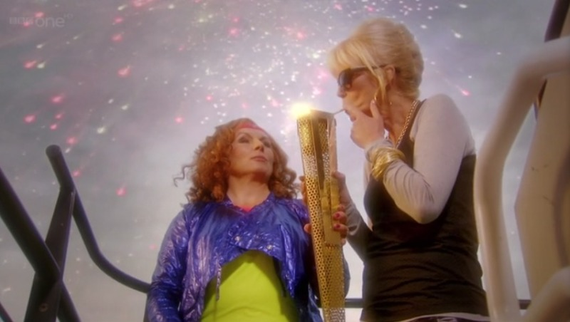 Absolutely Fabulous Patsy lights cigarette from Olympic Flame