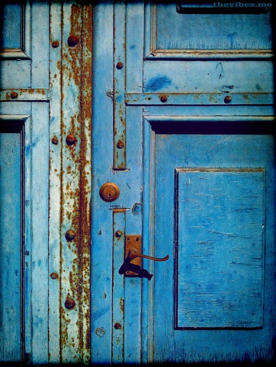 Rusting door castlefield manchester