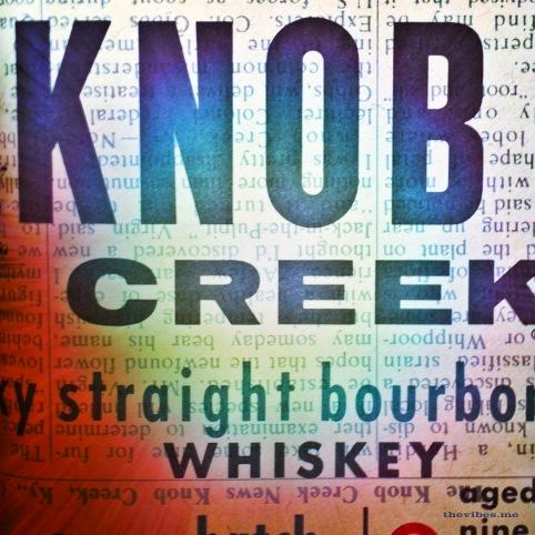 Knob creek whiskey label