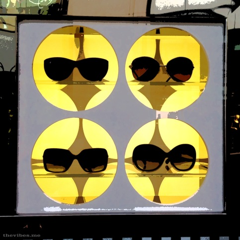 Sunglasses window display Louis Vuitton Manchester