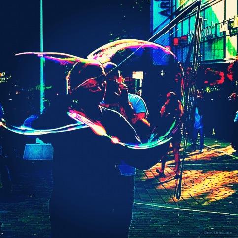 Giant Bubble Blower market street manchester