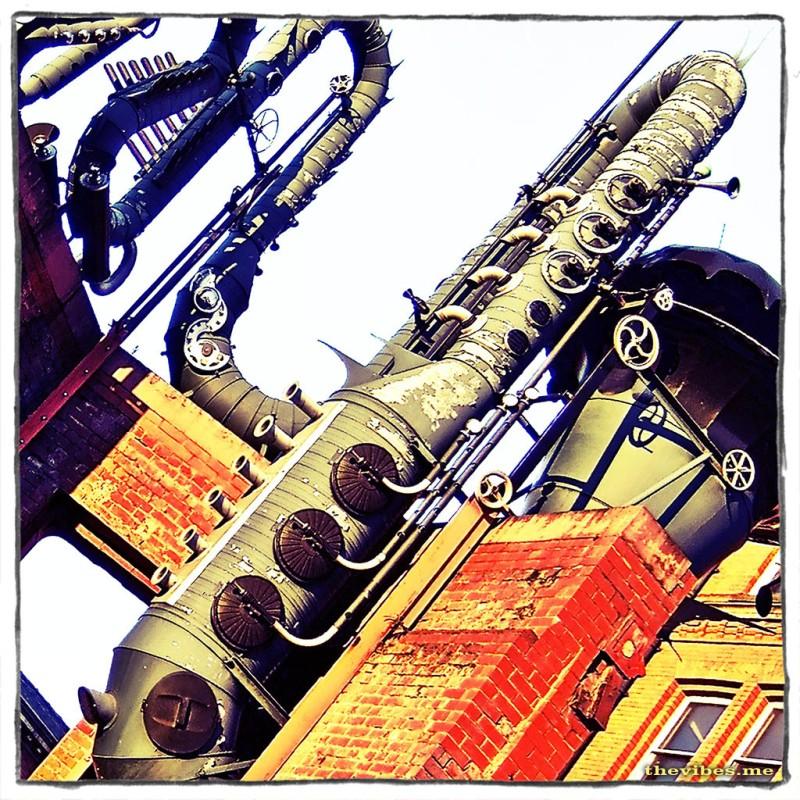 Street Sculpture near Affleck's Palace Manchester