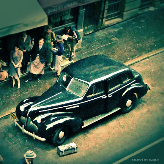 Vintage car on the set of Captain America Manchester