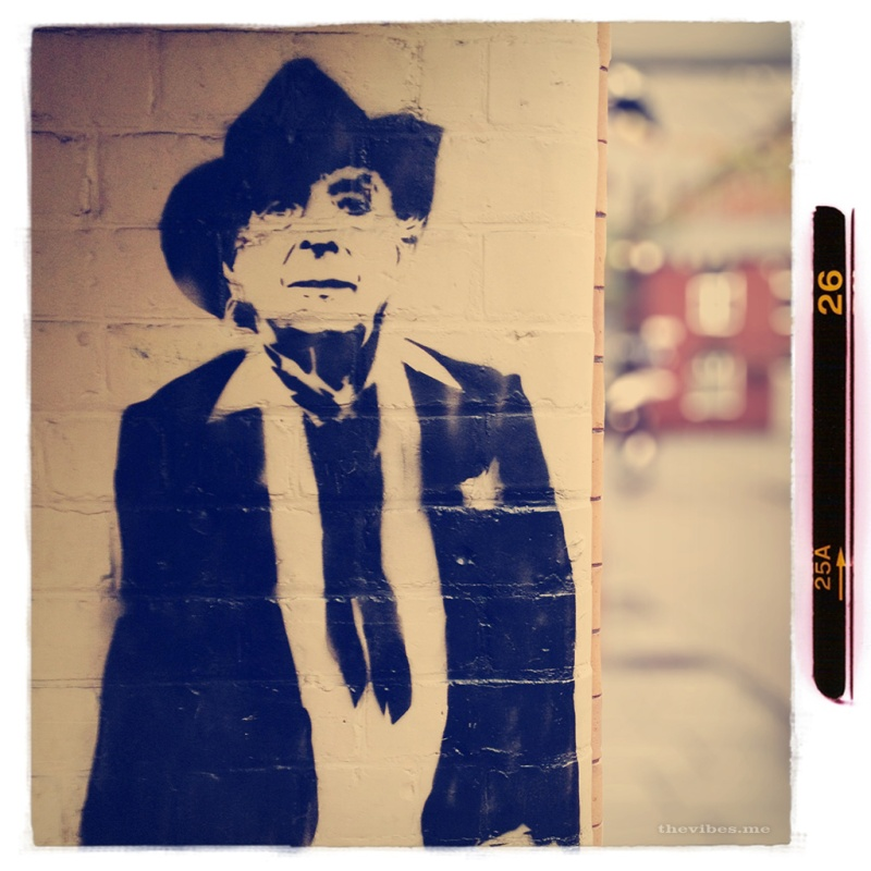 Stewy's Quentin Crisp wall art in Manchester's gay village