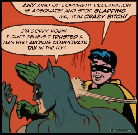 Robin slaps Batman