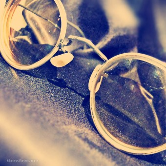 John Lennon's glasses at The Beatles Story Exhibition Liverpool