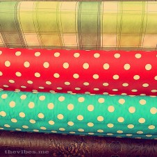 Polka dot cloth