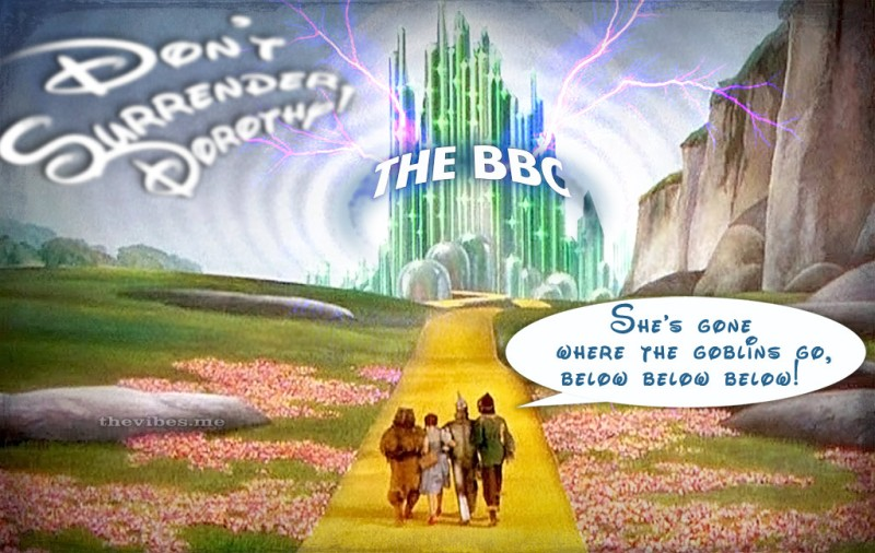 Wizaed of Oz satire of BBC censorship of anti Thatcher song