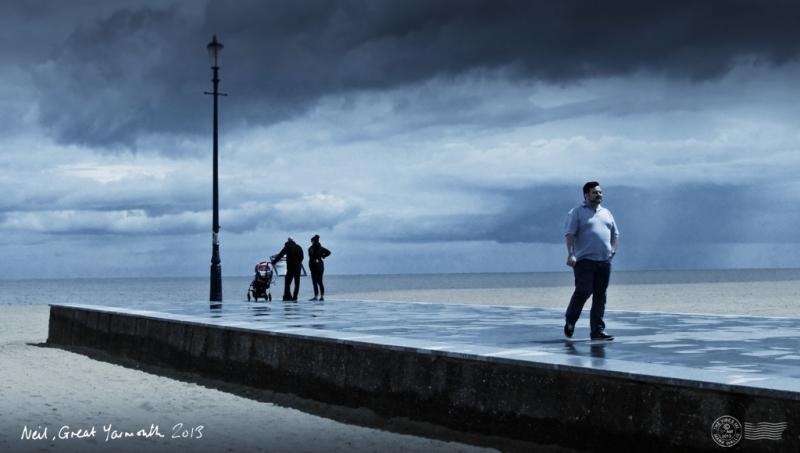 Neil Scott, Great Yarmouth 2013, by Mark Wallis